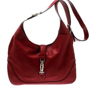 Gucci Red Leather Jackie bag